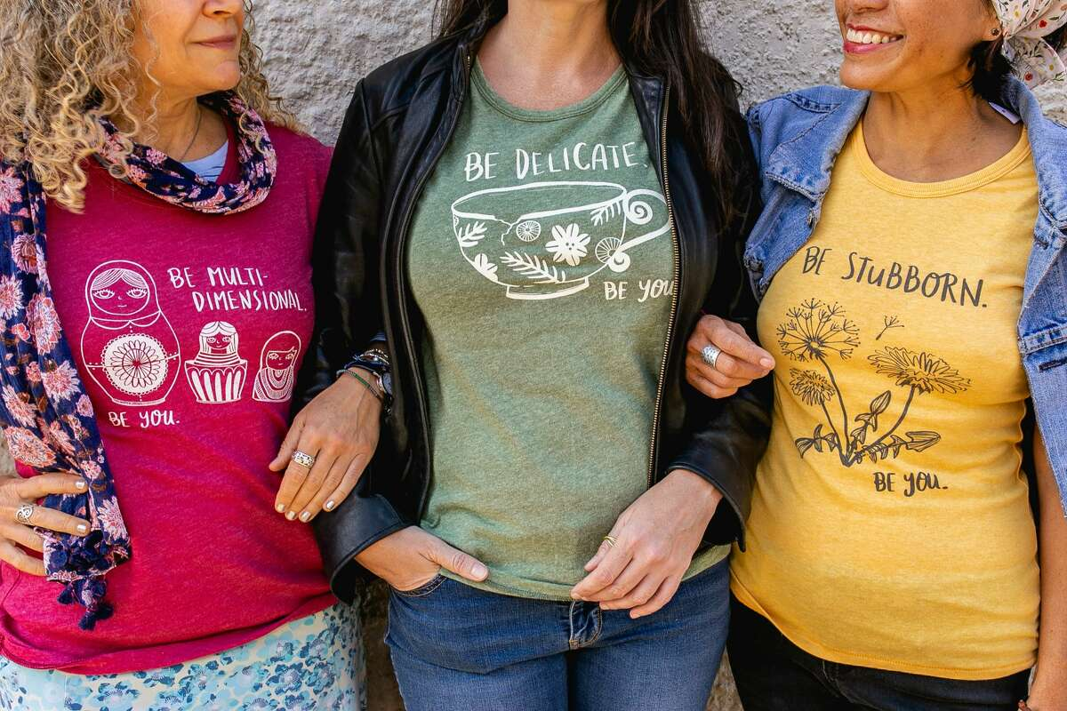 Authenticity T-shirts from LadyMade in Hamden; they are screenprinted by Cinder + Salt in Middletown.