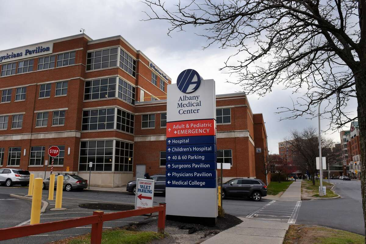 Exterior of Albany Medical Center, as seen in November. Nurses union members voted 97 percent in favor of a new contract. (Will Waldron/Times Union)