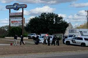 Deputies shot at least one person Tuesday afternoon after a vehicle pursuit in eastern Bexar County, officials said.