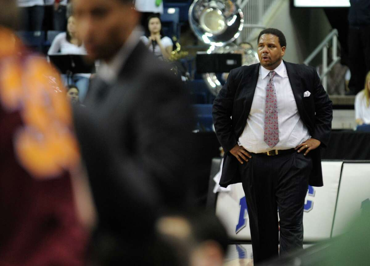Then-Fairfield coach Ed Cooley is shown during a 2011 game in Bridgeport. Cooley, now the Providence coach, will lead his Friars against Fairfield on Wednesday.