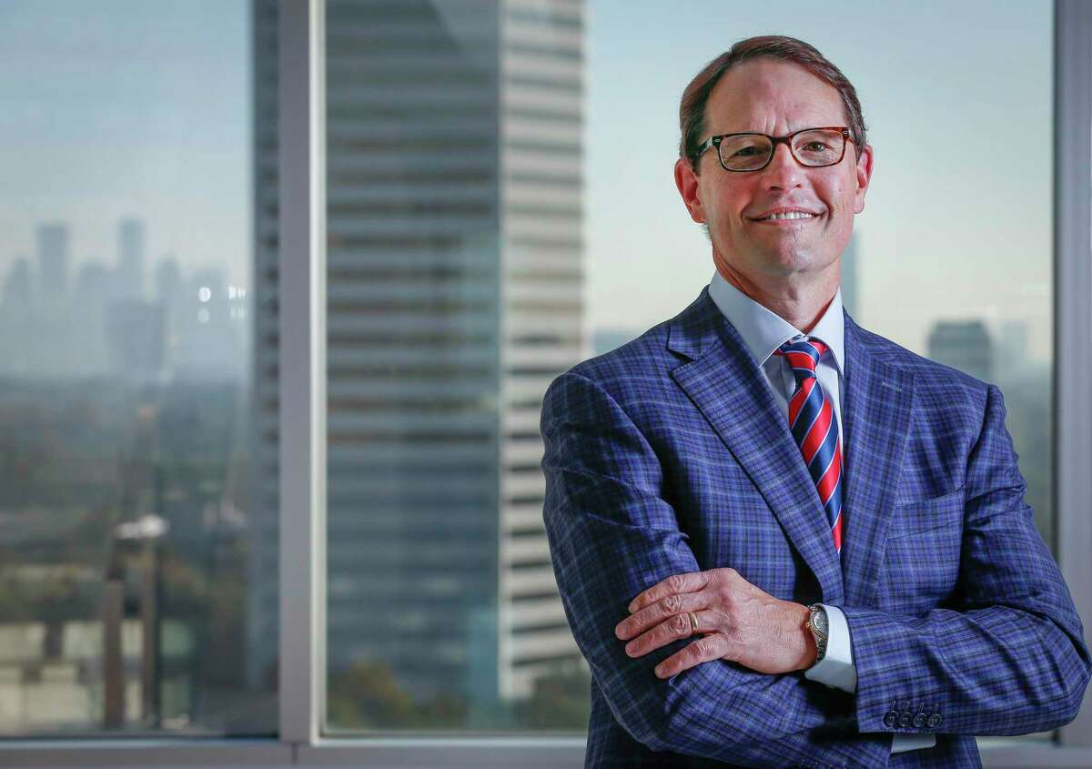 Larry Heard, CEO of the Transwestern commercial real estate firm Wednesday, Nov. 18, 2020, in Houston.