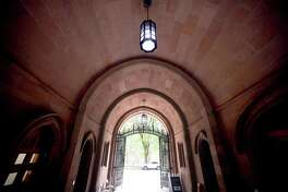 The Phelps Gate entrance to Yale University's Old Campus photographed on August 14, 2020.