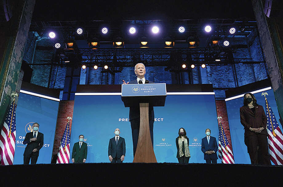President-elect Joe Biden introduces his nominees and appointees to key national security and foreign policy posts Tuesday in Wilmington, Delaware. Photo: Carolyn Kaster | Associated Press  / Copyright 2020 The Associated Press. All rights reserved