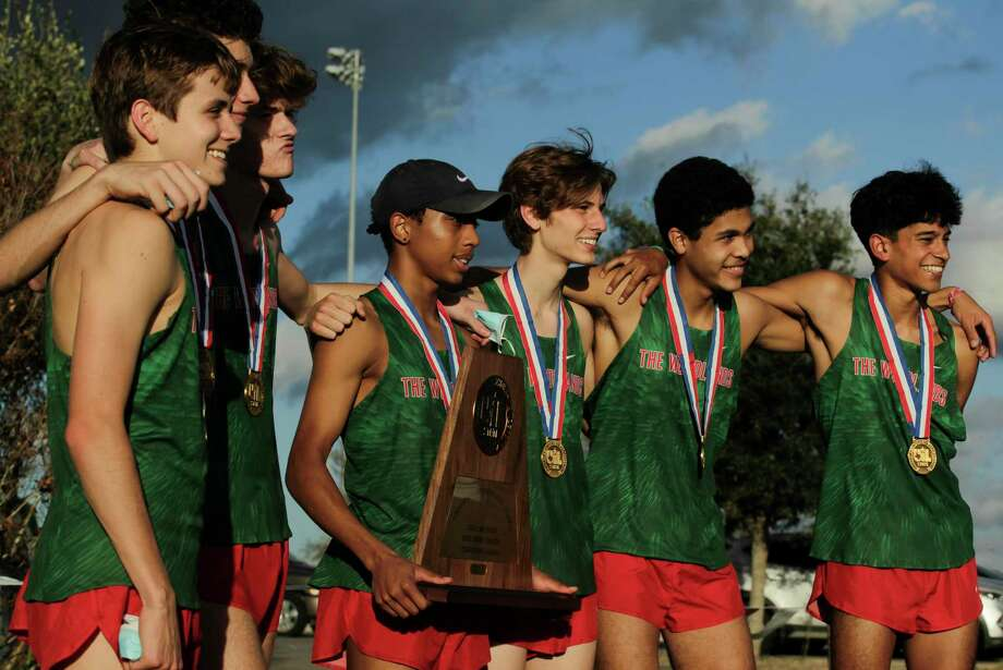 The Woodlands boys team took third place as a team during the Class 6A race during the UIL State Cross Country Championships at Old Settlers Park, Tuesday, Nov. 24, 2020, in Round Rock. Photo: Jason Fochtman, Houston Chronicle / Staff Photographer / 2020 © Houston Chronicle