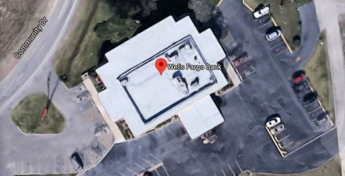 A Wells Fargo banking center on Community Drive in New Caney was the scene of what law enforcement is saying featured a knife-wielding man threatening an employee.