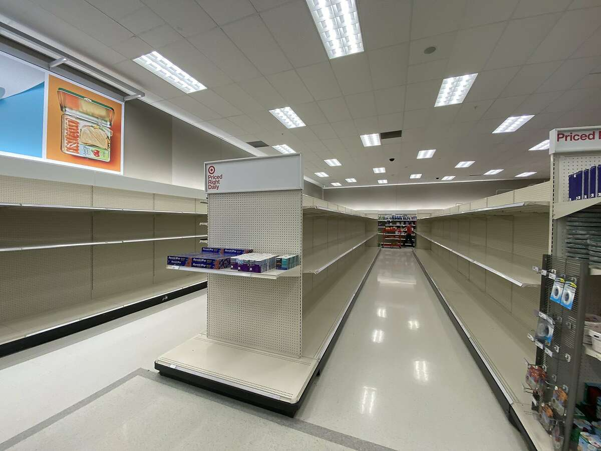 At a Target in Dublin, panic buying is back for the second time in the pandemic.