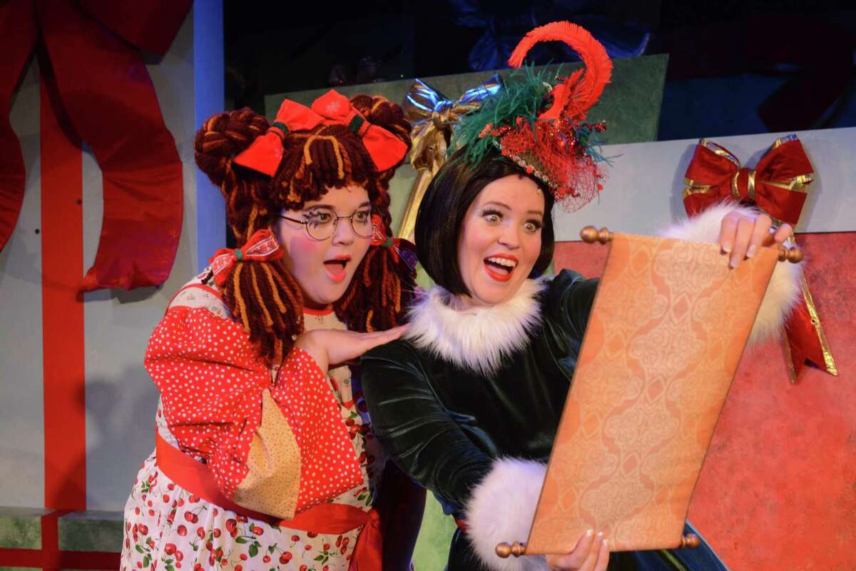 """Samantha Bonzi as Eleanor and Emily Rohm as Clara in """"Eleanor's Very Merry Christmas Wish - The Musical."""""""