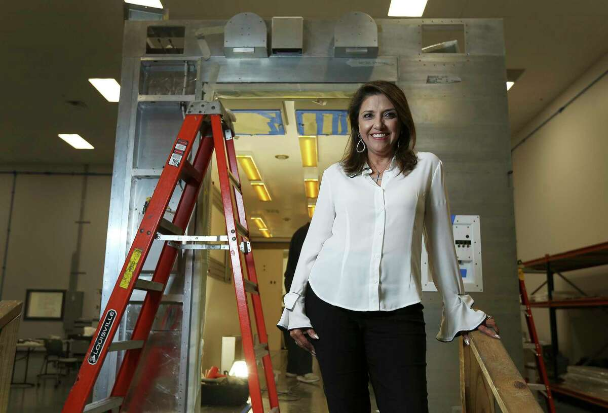Bianca Rhodes is the president and CEO of Knight Aerospace at Port San Antonio. The company retrofits large aircraft with various modular systems including medical suites.
