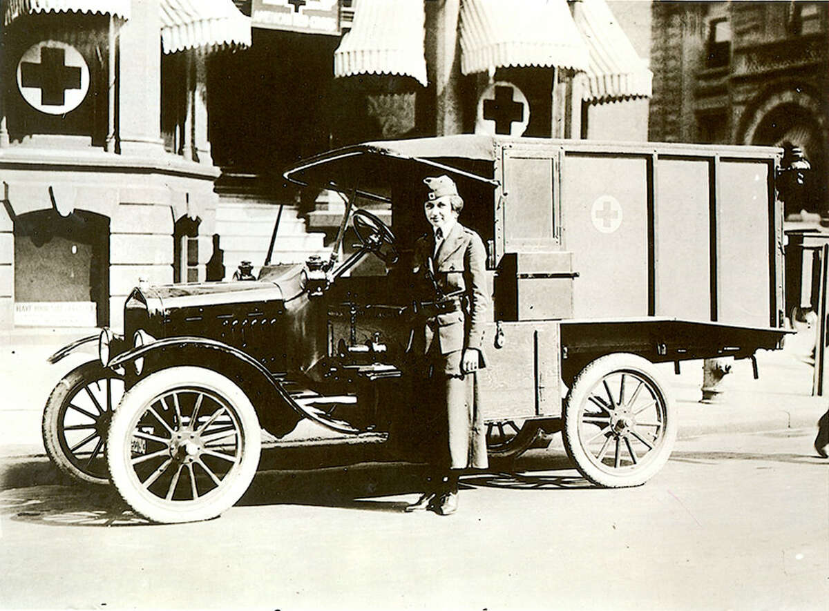 Motor Corps ambulance driver from the Detroit chapter of the American Red Cross.