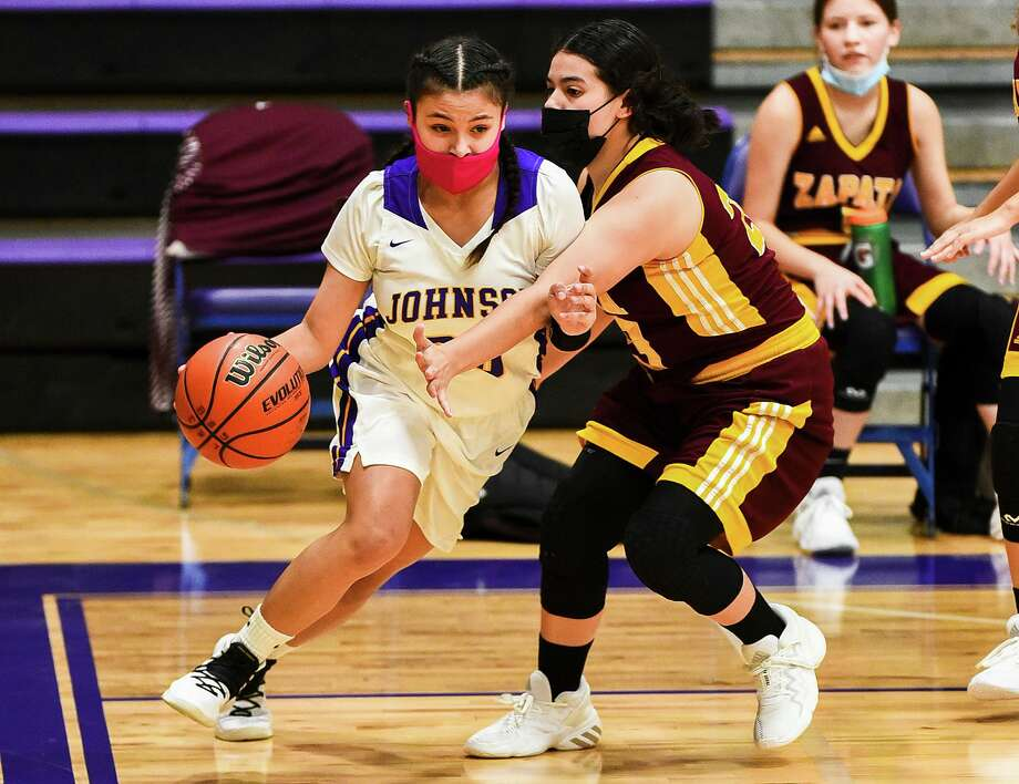 Ashley Garza and LBJ rolled 46-18 Tuesday at home over Zapata. Photo: Danny Zaragoza /Laredo Morning Times