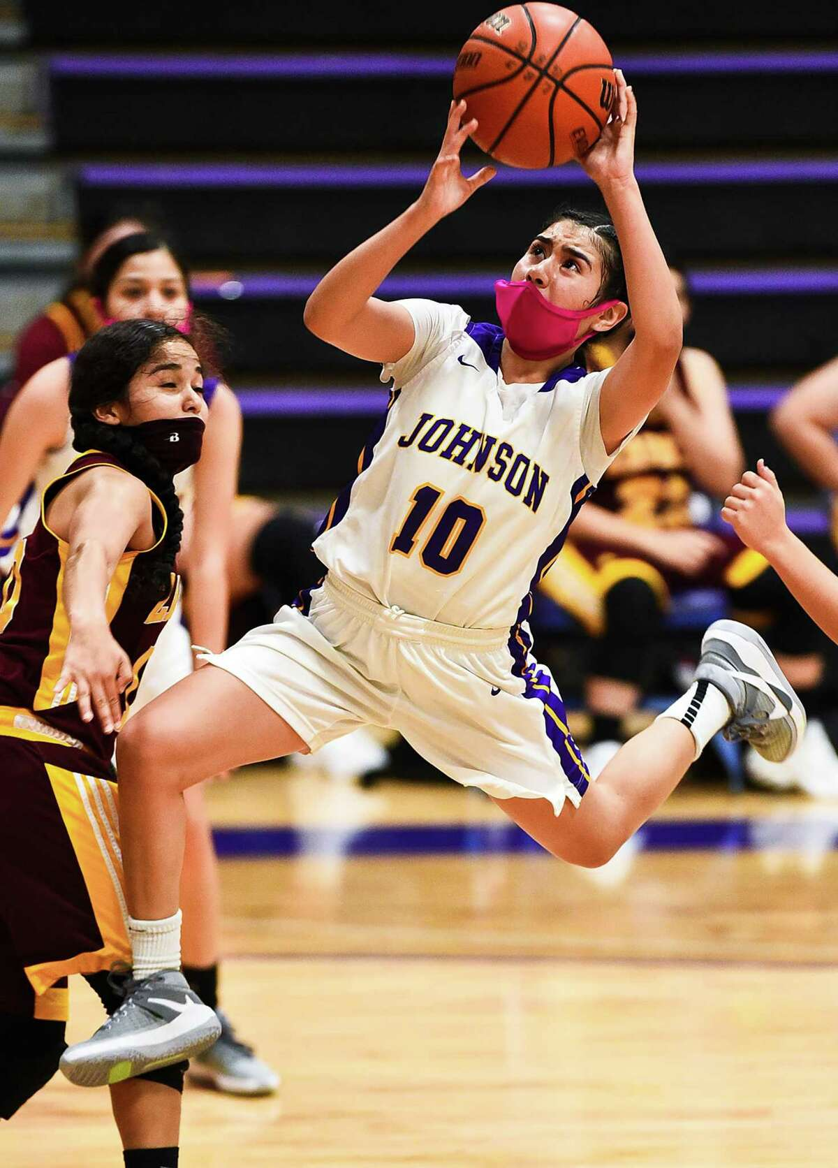 Amber Castillo and LBJ got back to a winning record improving to 3-2 with Tuesday's 46-18 victory over Zapata.