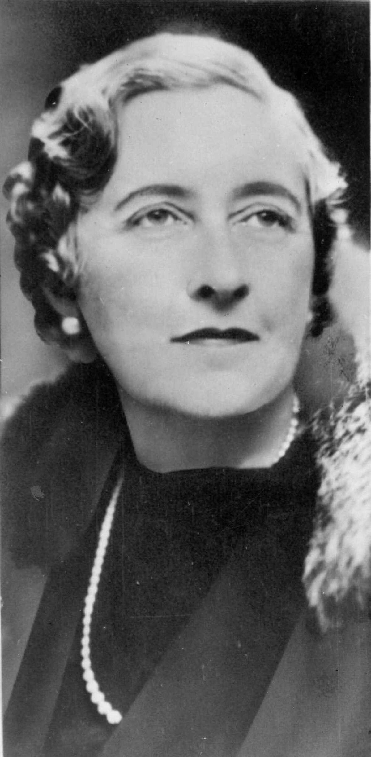 Agatha Christie, British playwright and author.