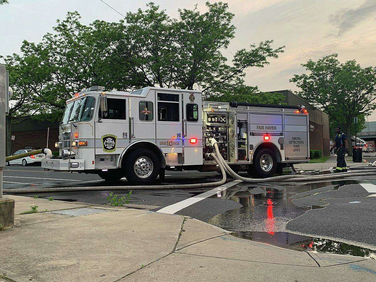 A file photo of a New Haven, Conn., fire engine.