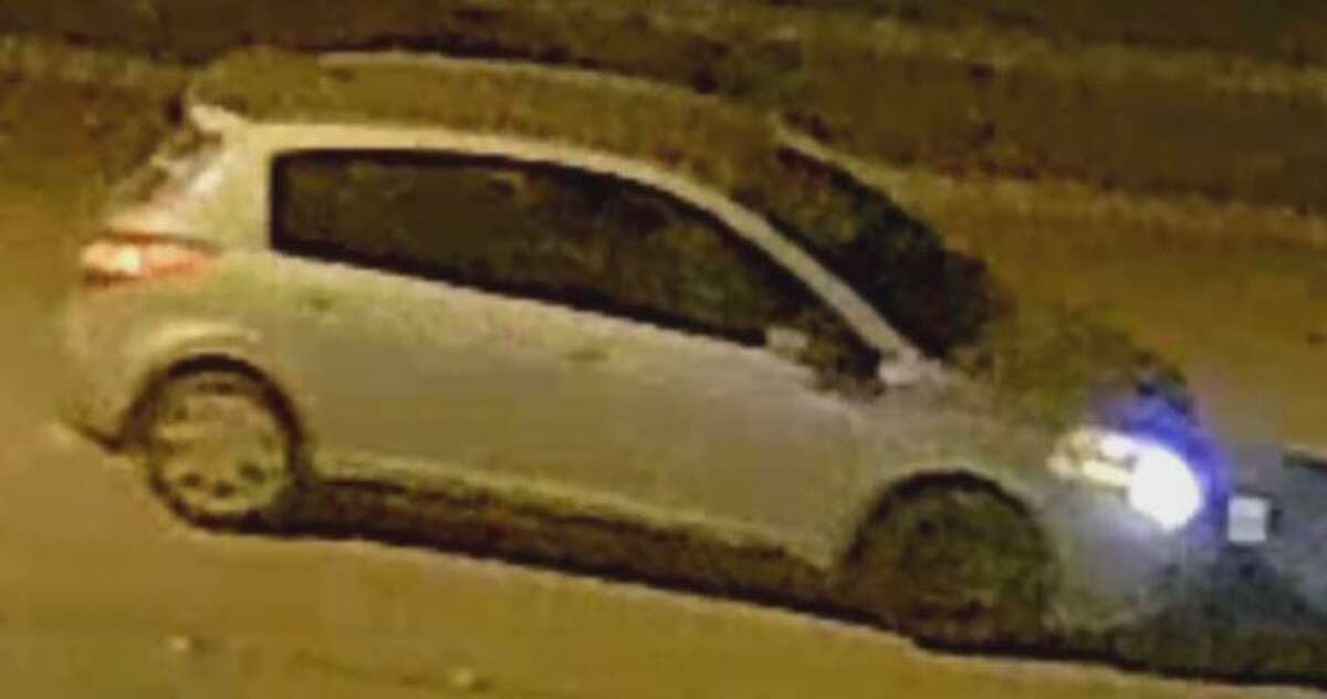 A car is seen in surveillance video footage in a case where authorities say on Nov, 22, 2020 a woman stole Christmas lighting and a child's bicycle in New Caney.