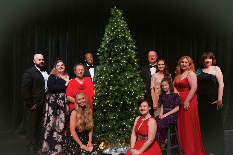 "The cast of The Players Theatre Company's ""An Evening in December."" The intimate evening of Christmas music is on stage at the Owen Theatre Dec. 4-20. Photo: Photo By Trevor Hall Photography"