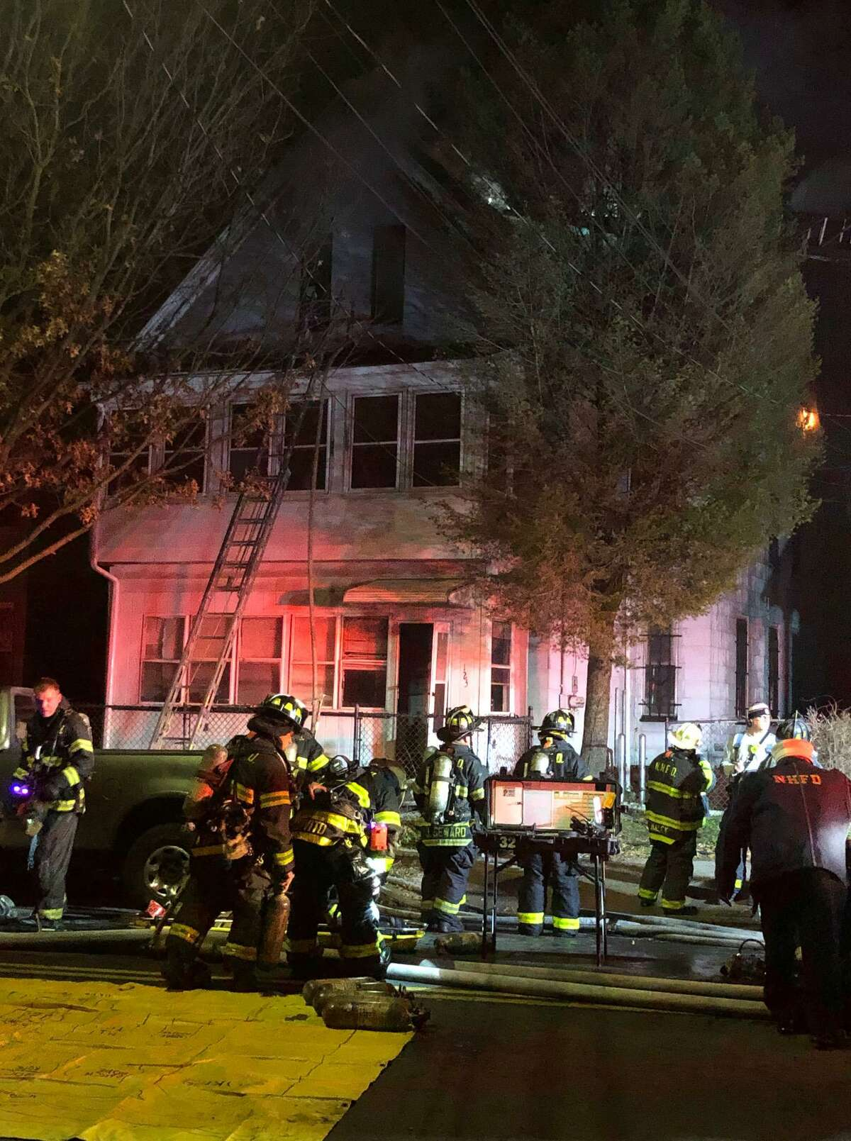 House fire on Winchester Avenue in New Haven Nov. 25.