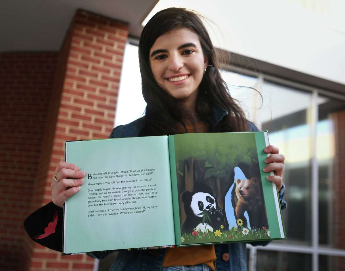Ludlowe High School student Layla Aziz, 16, created the illustrations for a book about inclusion,