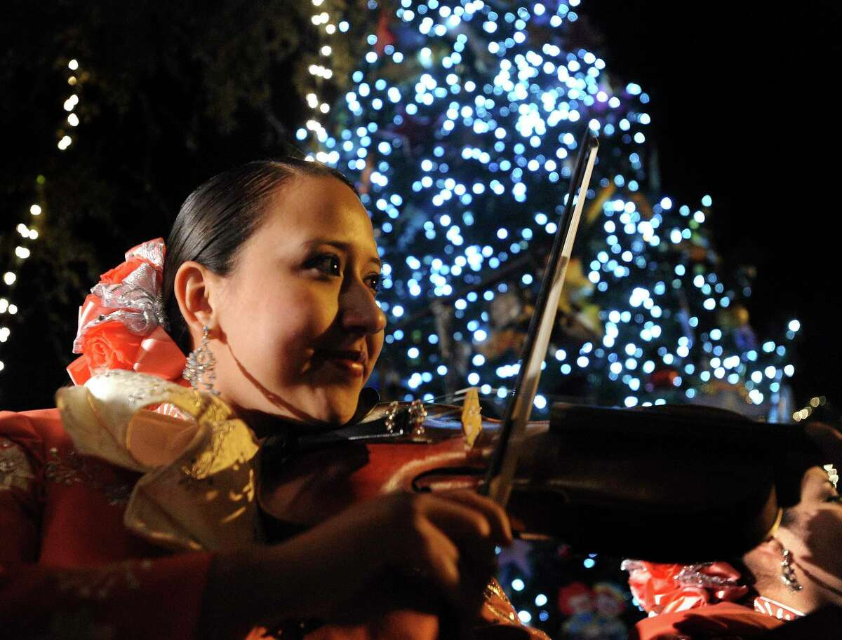 Mariachi music will follow the lighting of the H-E-B Christmas tree at Travis Park.