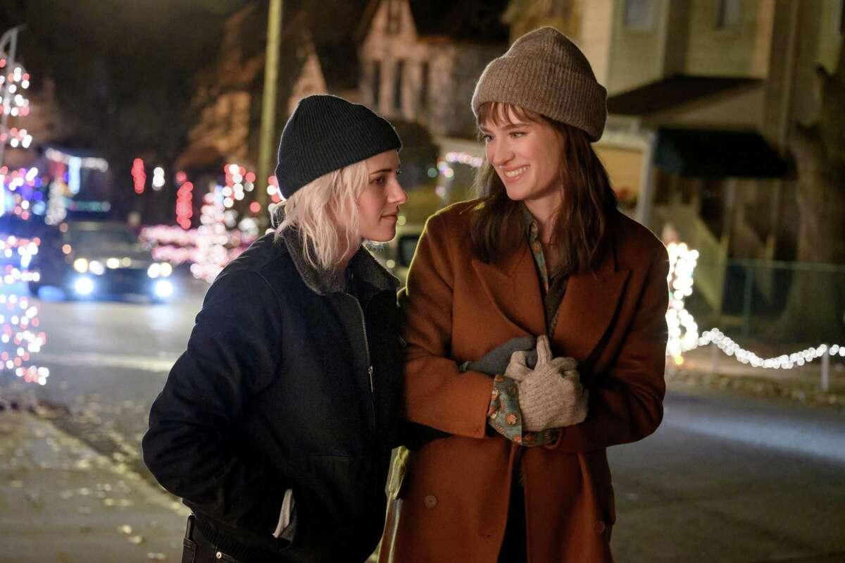 Kristen Stewart, left, and Mackenzie Davis appear in