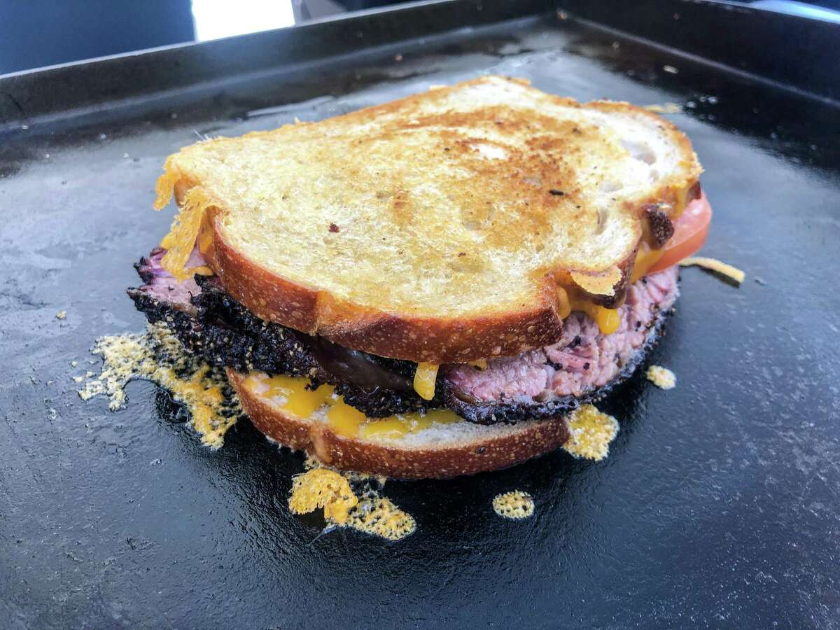 Brisket grilled cheese sandwich from MoCo Barbeque