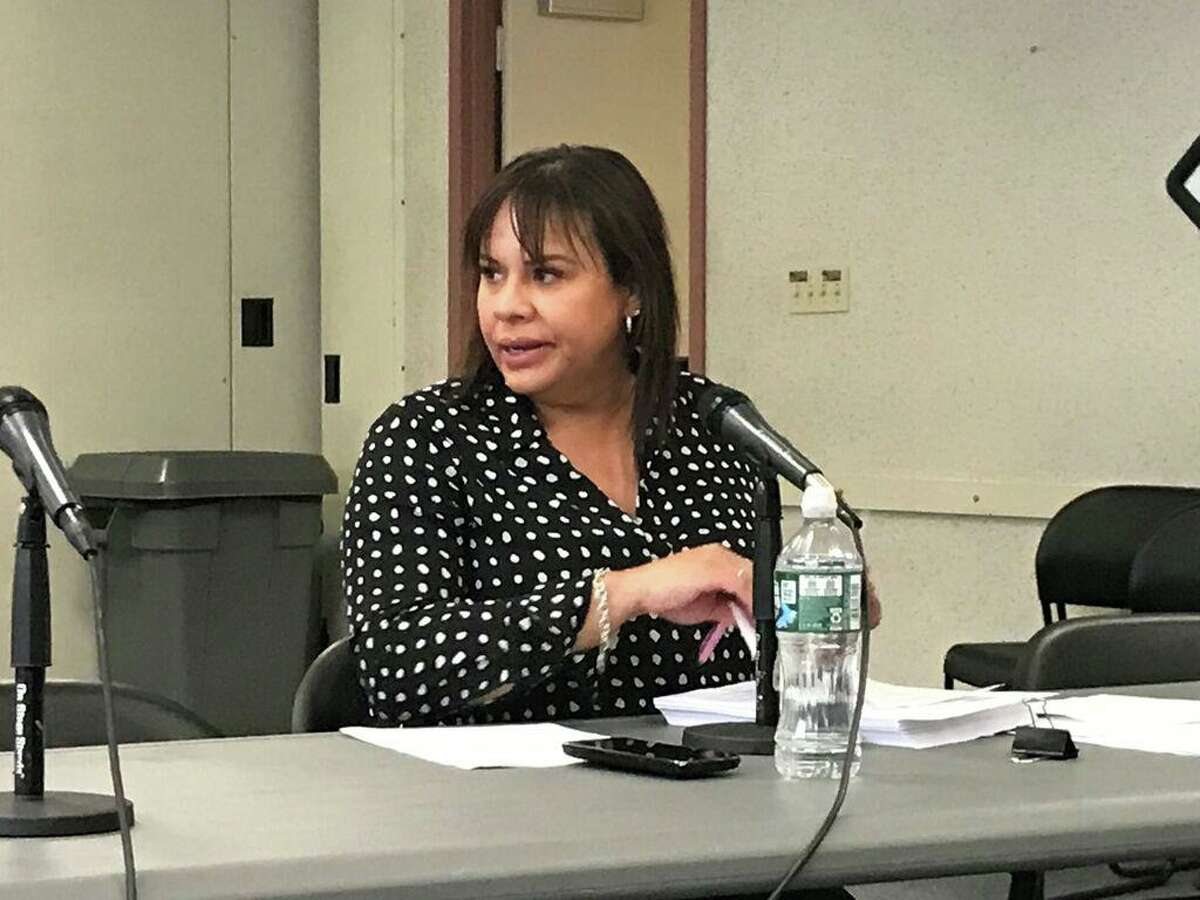New Haven Board of Education Finance and Operations Chairwoman Yesenia Rivera on Oct. 10, 2019.