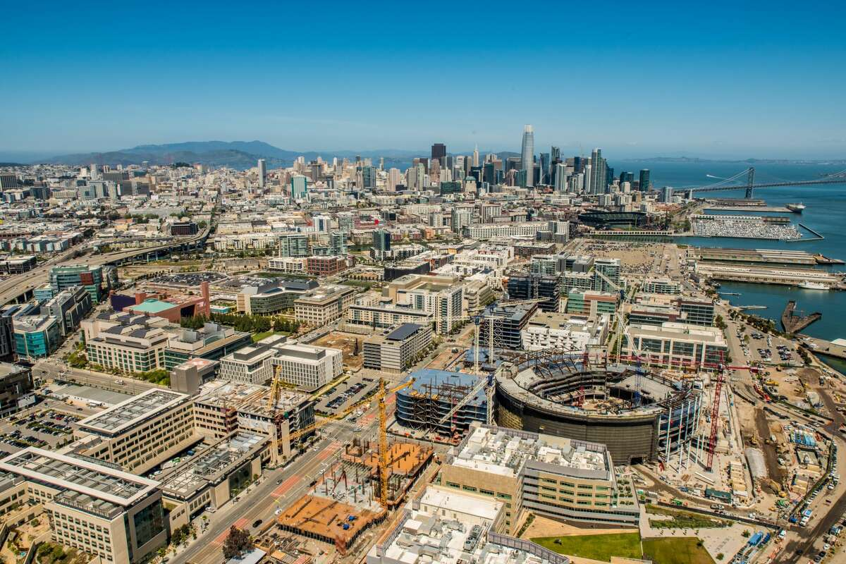An aerial view of Mission Bay, San Francisco.
