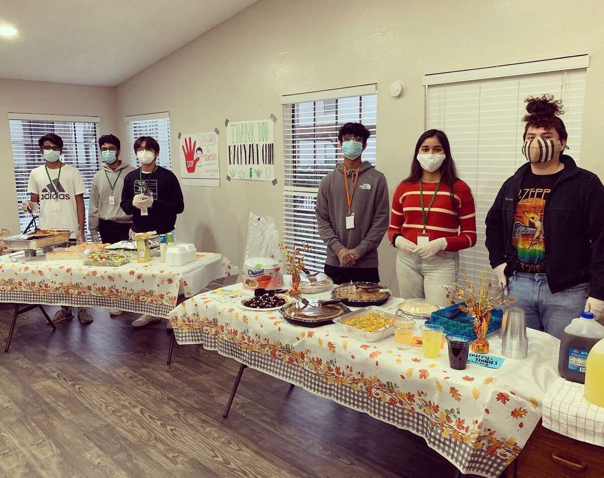 Cy-Hope volunteers served 80 Thanksgiving meals in the Pointe community and 140 meals at in Windfern with volunteers and fried turkeys from The Backyard Grill