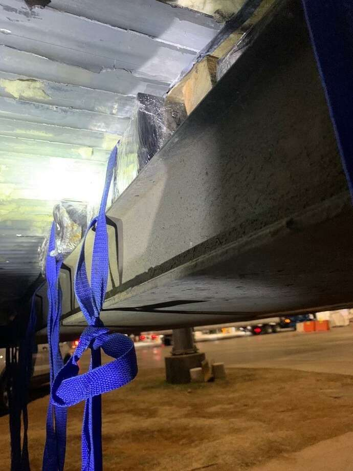 U.S. Border Patrol agents recently seized more than $9 million in meth at the Interstate 35 checkpoint. The Drug Enforcement Administration has taken over the investigation. Photo: Courtesy Photo /U.S. Border Patrol