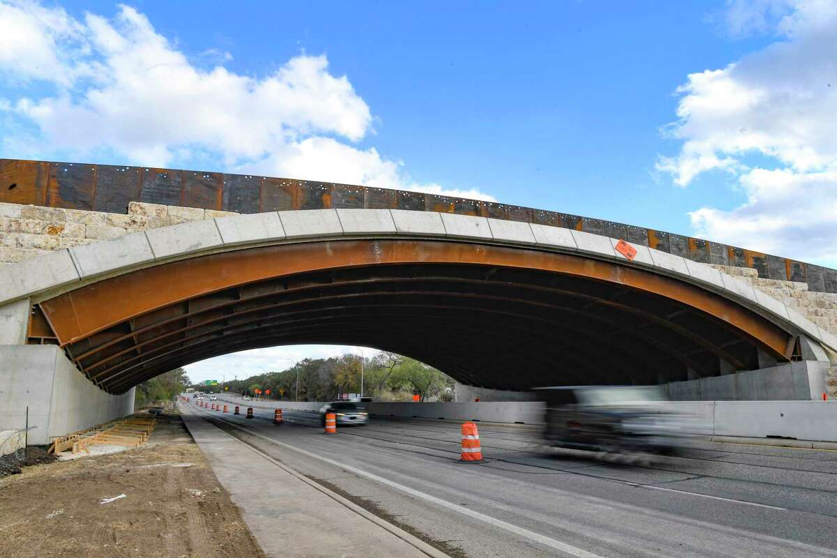 The 150-foot wide land bridge is a first for Texas.