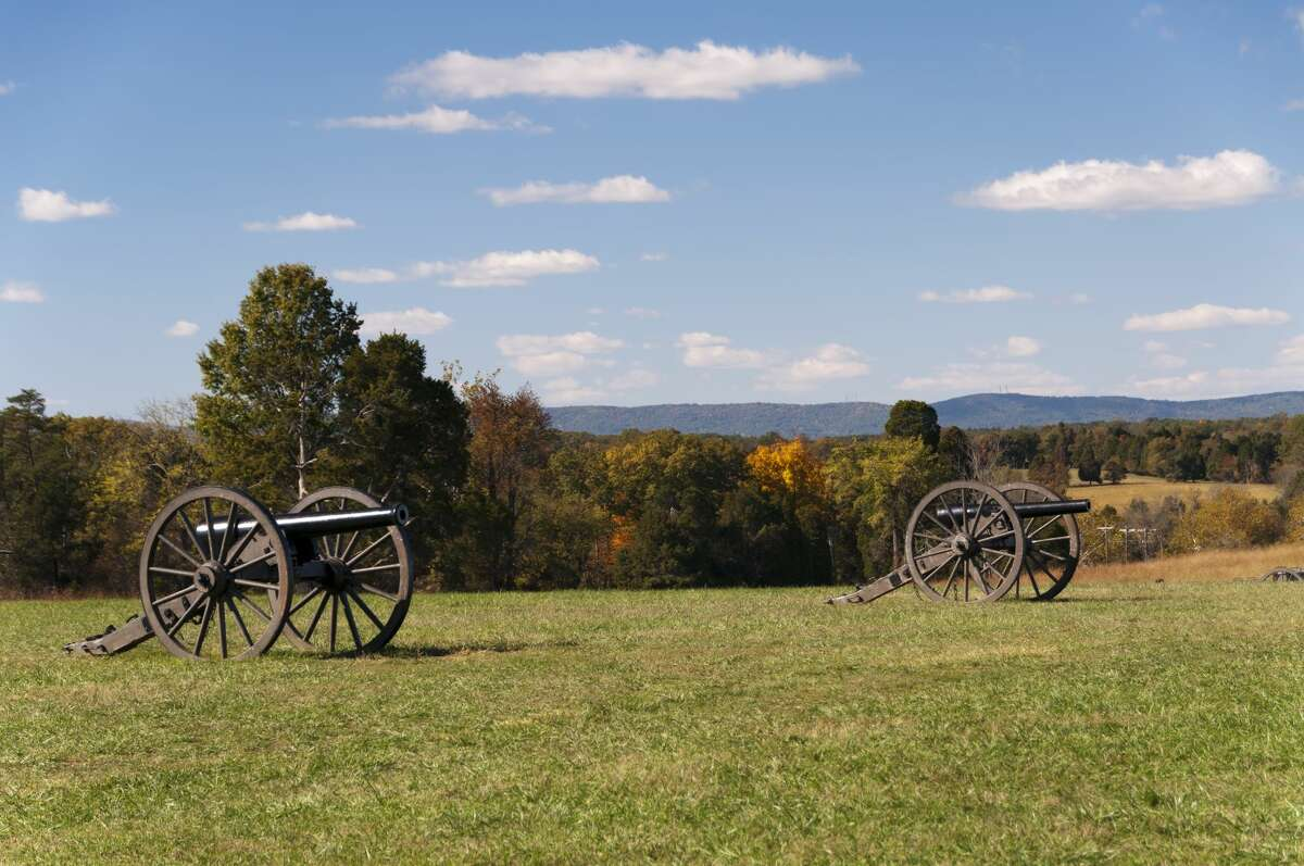 The battlefield at Manassas in Virginia, site of the first and second battles of Bull Run.