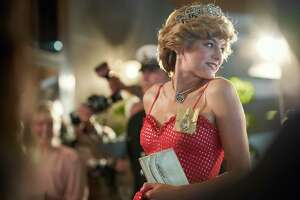 """Emma Corrin, plays Princess Diana in a season four of """"The Crown,"""" an escape from President Donald Trump. Sort of."""