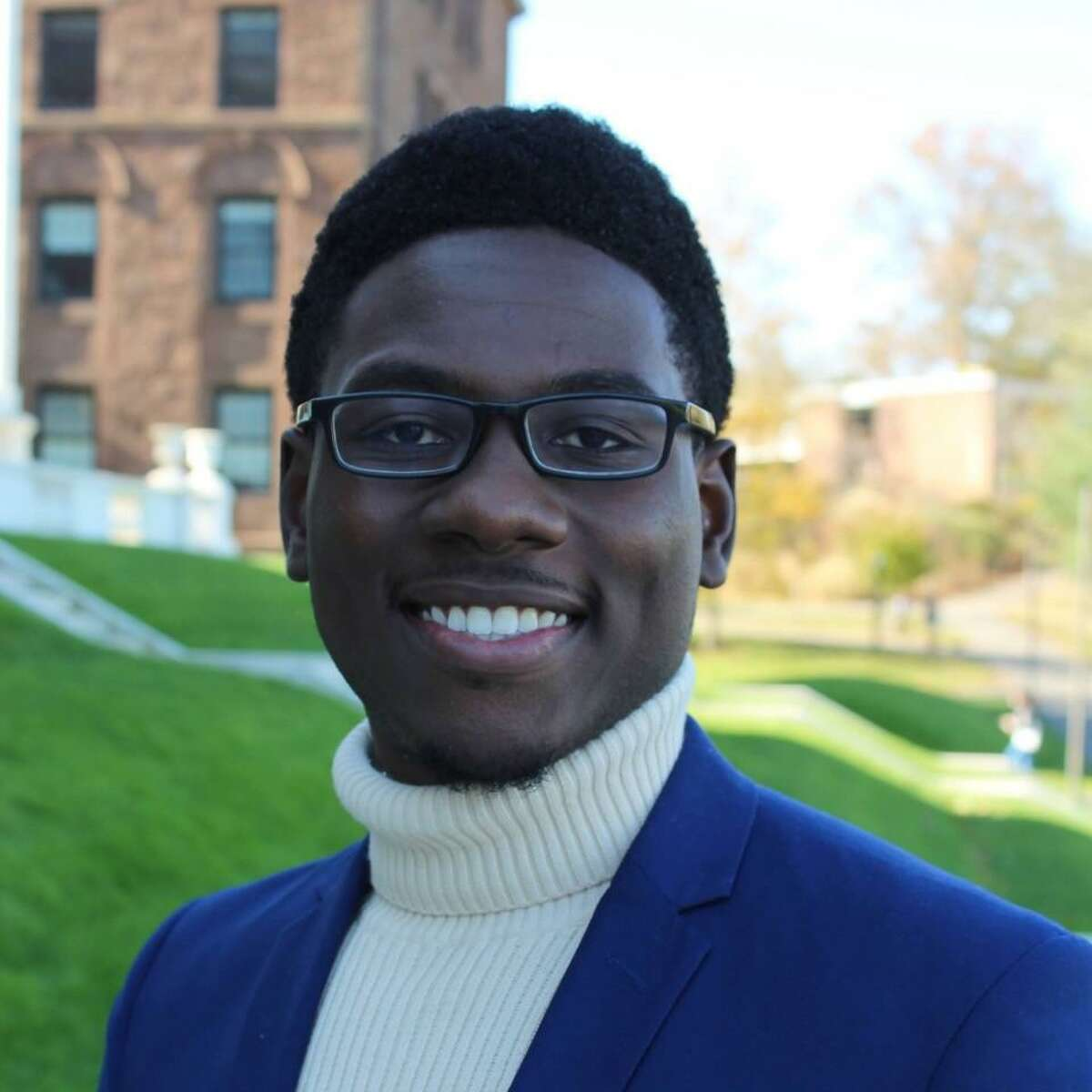Fitzroy 'Pablo' Wickham, a senior at Wesleyan university who was named the 2021 Rhodes Scholar for Jamaica.