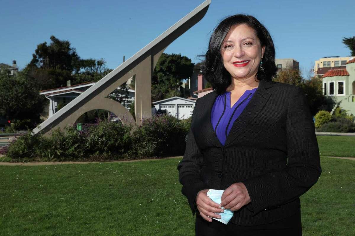 Incoming San Francisco Supervisor Myrna Melgar walks in her neighborhood.