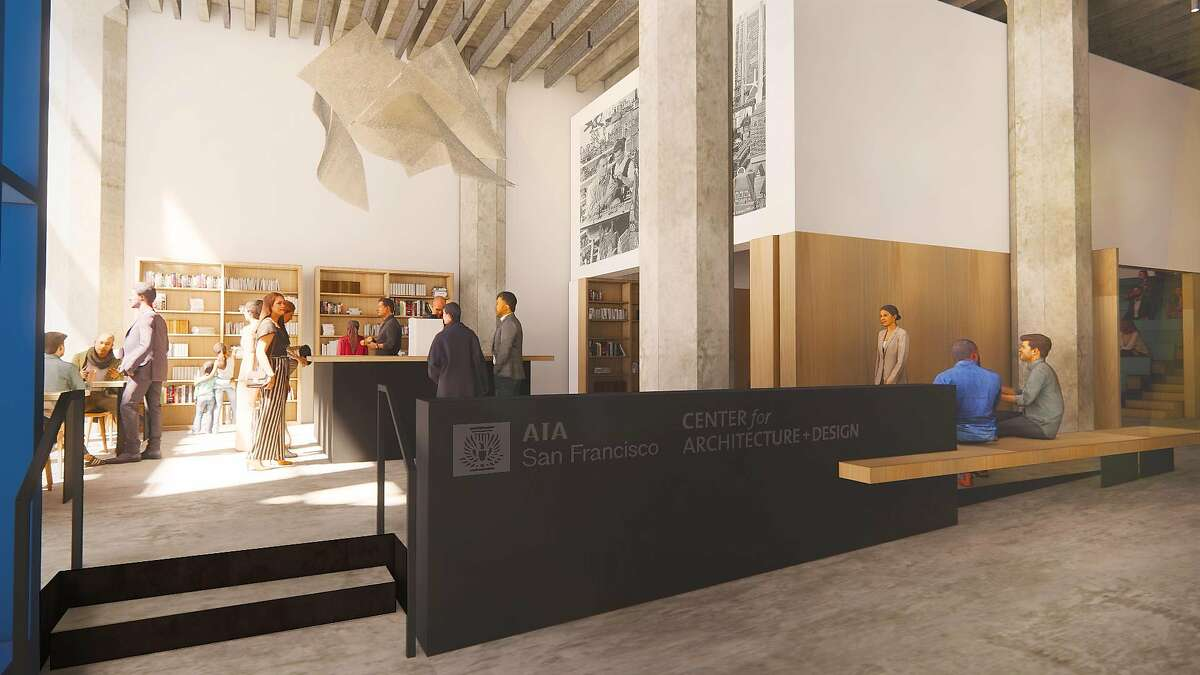 A rendering shows the new office of the S.F. chapter of the American Institute of Architects.
