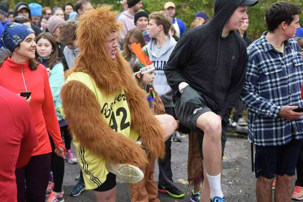 Photos from the Shippan Turkey Trot at Shippan Point in Stamford, Conn. Thursday, Nov. 24, 2016. The Thankgiving Day fun run, now in its 16th year, drew about 300 participants dressed in a variety of wacky and holiday-themed costumes. An estimated $10,000 raised by the run goes 100% to meal programs at Stamford's Pacific House.