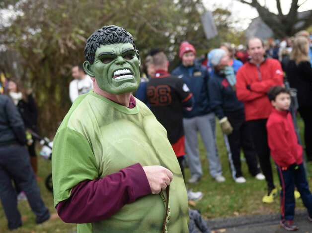 Photos from the Shippan Turkey Trot at Shippan Point in Stamford, Conn. Thursday, Nov. 24, 2016. The Thankgiving Day fun run, now in its 16th year, drew about 300 participants dressed in a variety of wacky and holiday-themed costumes. An estimated $10,000 raised by the run goes 100% to meal programs at Stamford's Pacific House. Photo: Tyler Sizemore / Hearst Connecticut Media / Greenwich Time