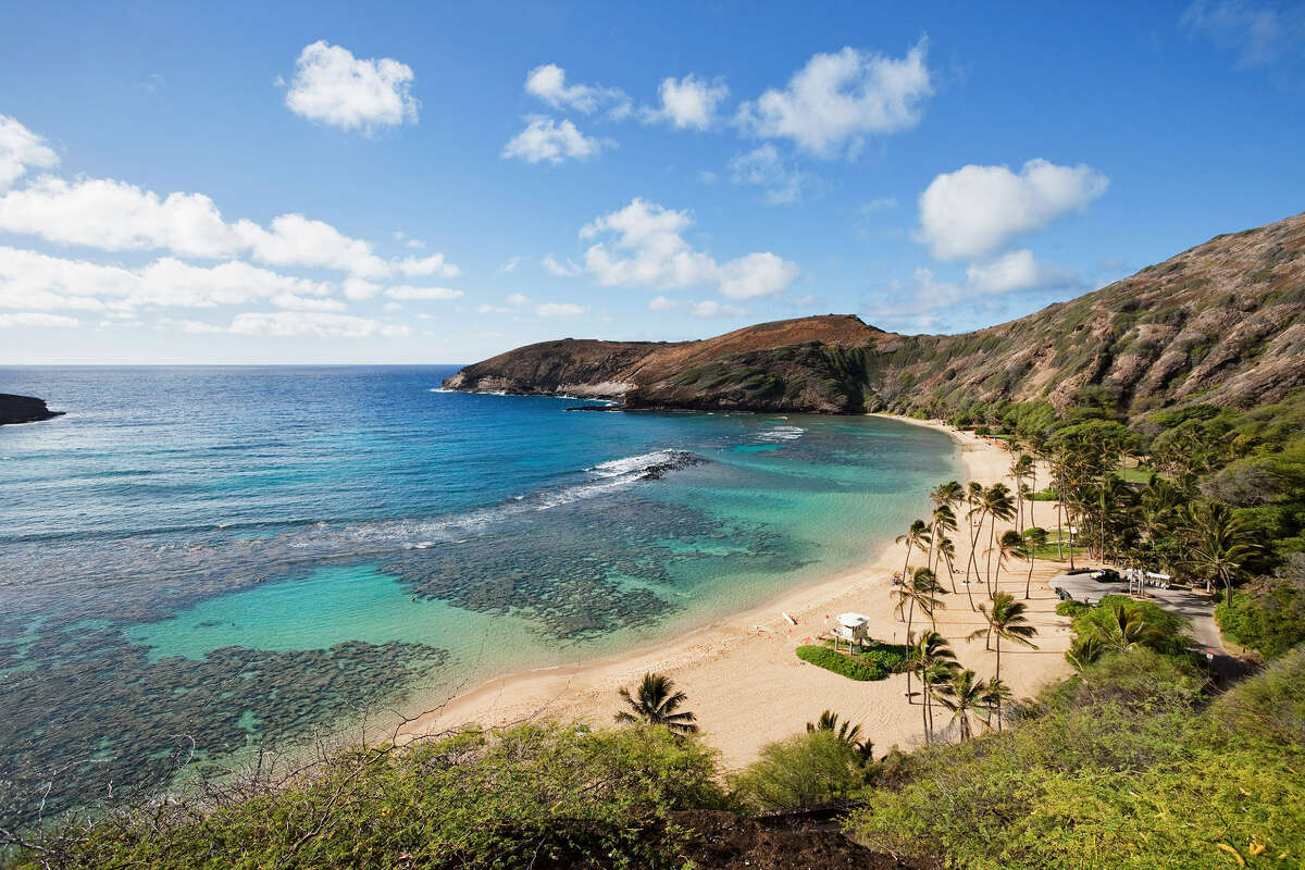 The pristine waters of Hanauma Bay are a popular destination for visitors.