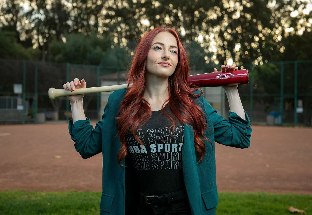 Baseball sports agent Rachel Luba poses for a portrait on the baseball field at Soper Park on Friday, Nov. 6, 2020 in Seaside, Calif.