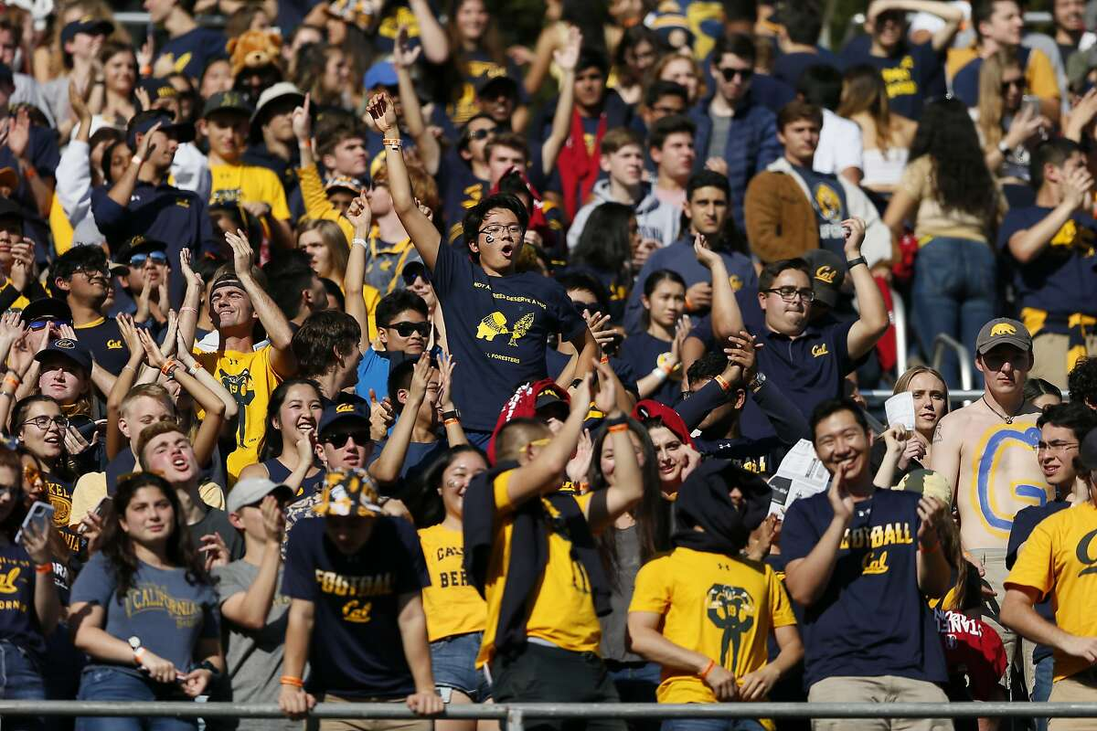 California Golden Bears fans in the first half last year's Big Game at Stanford Stadium.