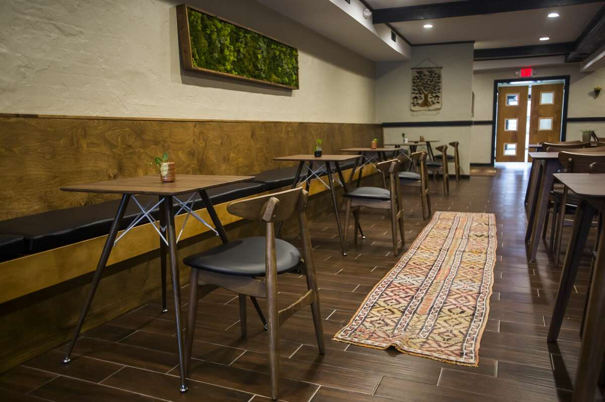 Aster, a new farm-to-table restaurant, has opened at 134 Ashman St. in downtown Midland. (Katy Kildee/kkildee@mdn.net)