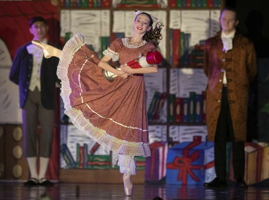 Members of the Vitacca Vocational School for Dance rehearse for the organization's production of The Nutcracker at The Woodlands Resort, Wednesday, Nov. 25, 2020, in The Woodlands. This season's production features Vitacca Dance Artists from around Houston and The Woodlands. Performances are Friday at 7 p.m. and Saturday and Sunday at 1 and 6 p.m. For more information visit, www.VitaccaDance.com. Photo: Jason Fochtman/Staff Photographer / 2020 © Houston Chronicle