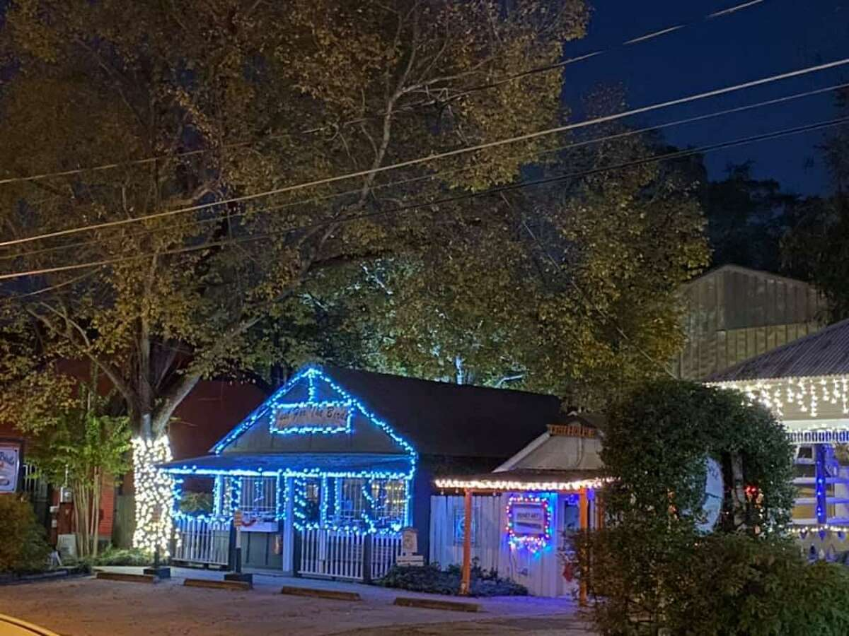 Old Town Spring decorated for their annual Home for the Holidays.