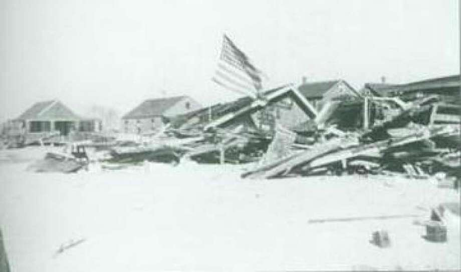 Shoreline cottages on Fairfield Beach were devastasted by the fierce Hurricane of 1938. Photo: Contributed Photo / Fairfield Citizen contributed