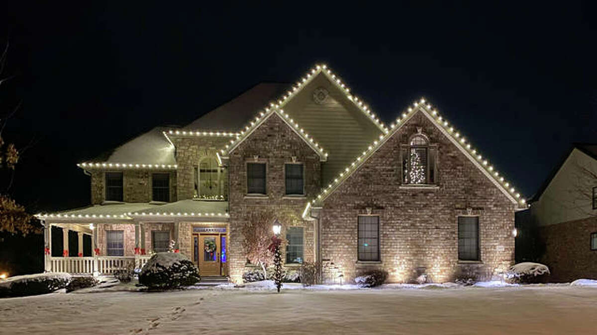 Pictured is the front of a home participating in the 2020 Holiday House Tour.