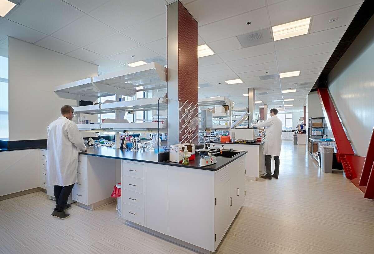 A lab inside Wareham Development's Aquatic Park Center in Berkeley.