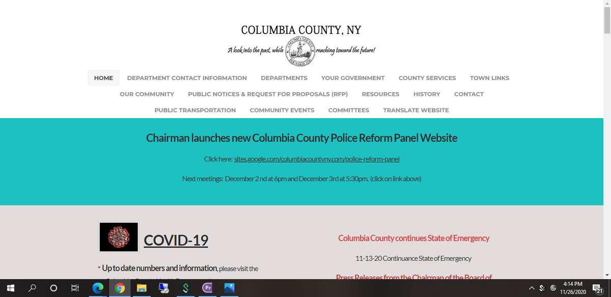 The Columbia County government website now has a translate feature that allows content to be translated into any one of more than 100 languages, powered by Google Translate. Immigrant advocacy group Columbia County Sanctuary Movement pushed for the change to increase access to information and communication for all county residents.