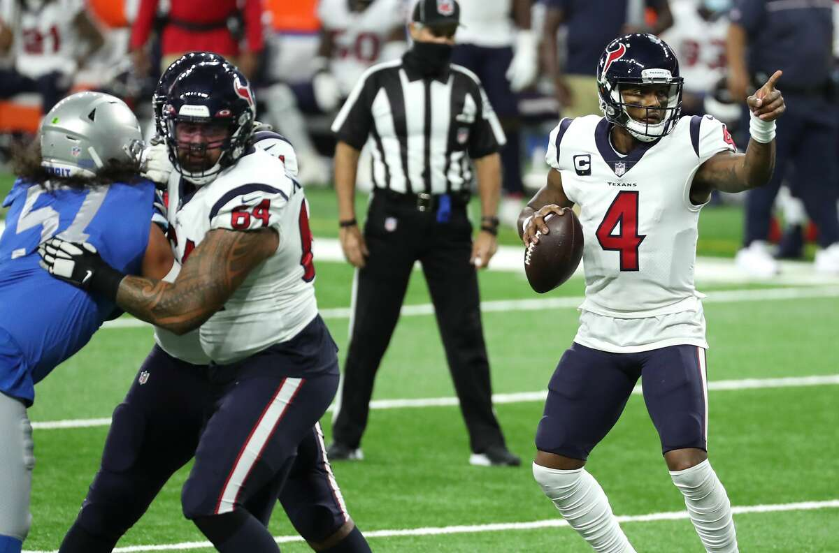 Texans QB Deshaun Watson is pointed toward career bests this year in a number of statistical categories.