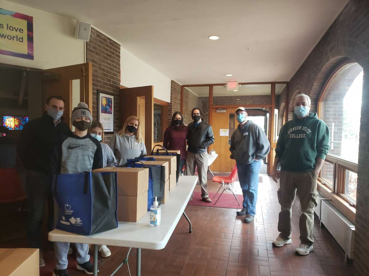 Presbyterian-New England Congregational Church volunteers were part of a team working throughout the county to distribute Saratoga County EOC's Thanksgiving baskets over the weekend. (Provided by Saratoga County EOC)