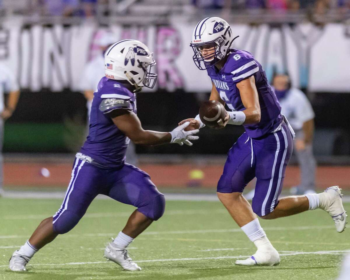 PN-G quarterback Blake Bost. Port Neches-Groves hosted Port Arthur Memorial in the 5A season opener for both programs. Photo made on September 25, 2020. Fran Ruchalski/The Enterprise