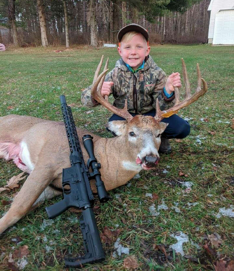 Lee Nix, of Paris, is pictured with his 10-point buck which he shot on Nov. 17. Photo: Courtesy Photo